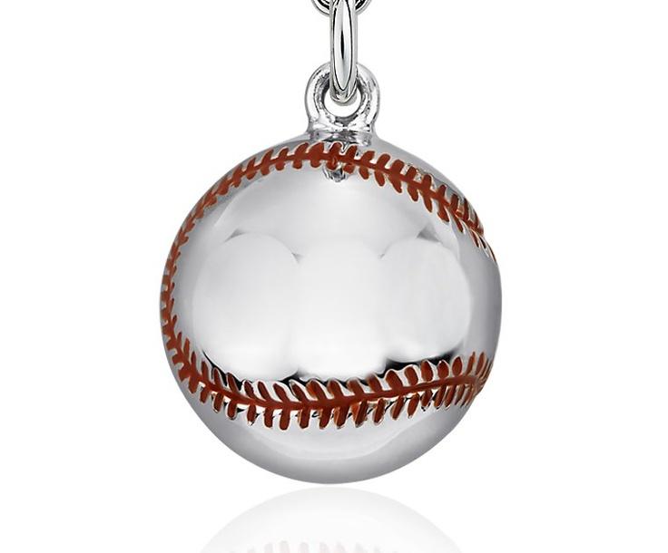 177 best baseball jewelry images on pinterest baseball jewelry baseball charm in sterling silver blue nile aloadofball Gallery
