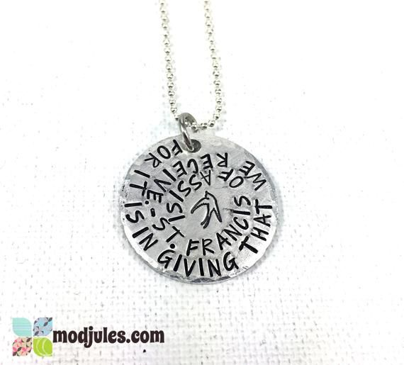 Confirmation Saint Jewelry, St Francis of Assisi Quote, Confirmation