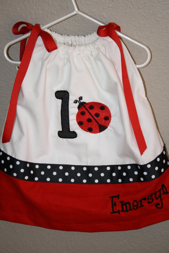 Ladybug Birthday pillowcase dress  _ does anyone have any idea how to make one of these dresses?  It would be awesome if I could make one for Lilly's birthday