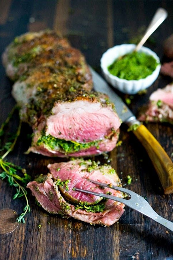 Herb Crusted Leg of Lamb with Mint Gremolata
