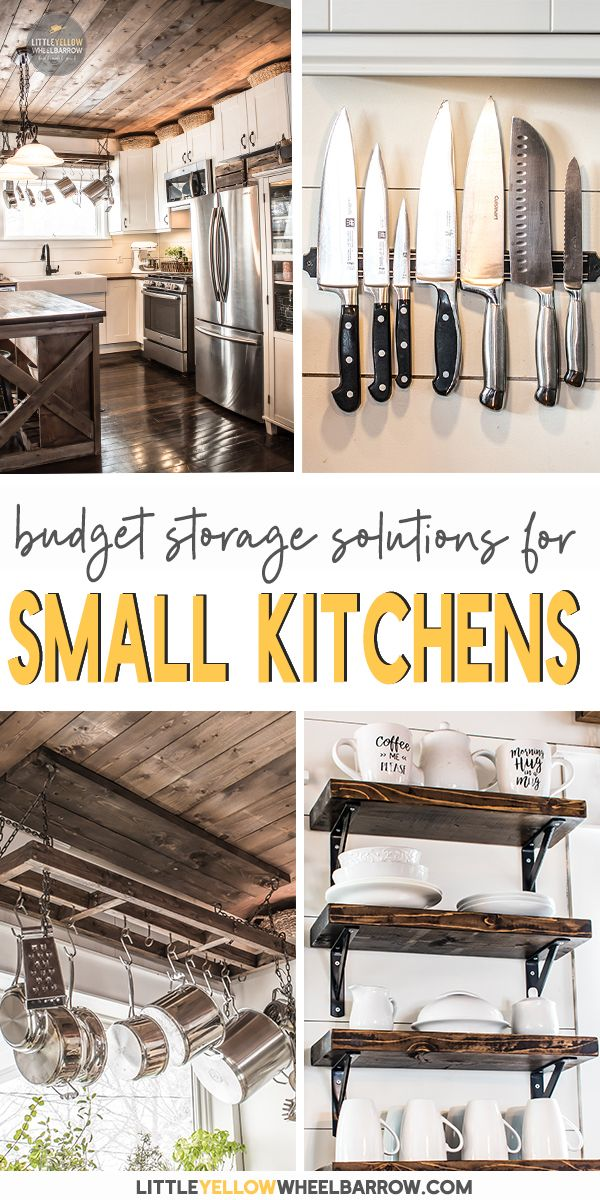 13 Inexpensive Small Kitchen Storage Ideas To Use In Your Home Small Kitchen Storage Cheap Kitchen Cabinets Small Kitchen