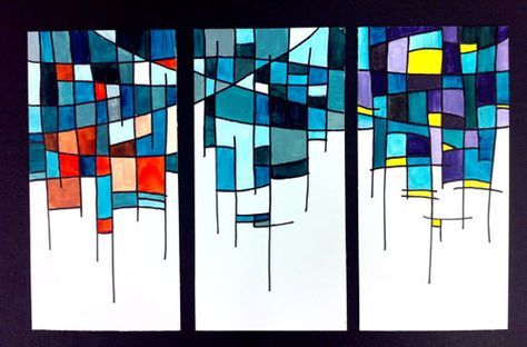 Color Schemes triptych----Looks like fun---Can 't wait to give this a try!