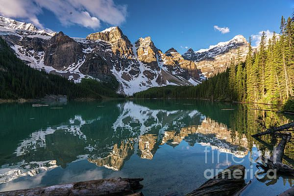 Valley of the Ten Peaks Moraine Lake Banff National Park Canada.  Photography by Mike Reid