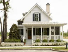 Small Southern Cottage House w/ 3 Different Porches! (HQ Plans & Pictures) | Metal Building Homes