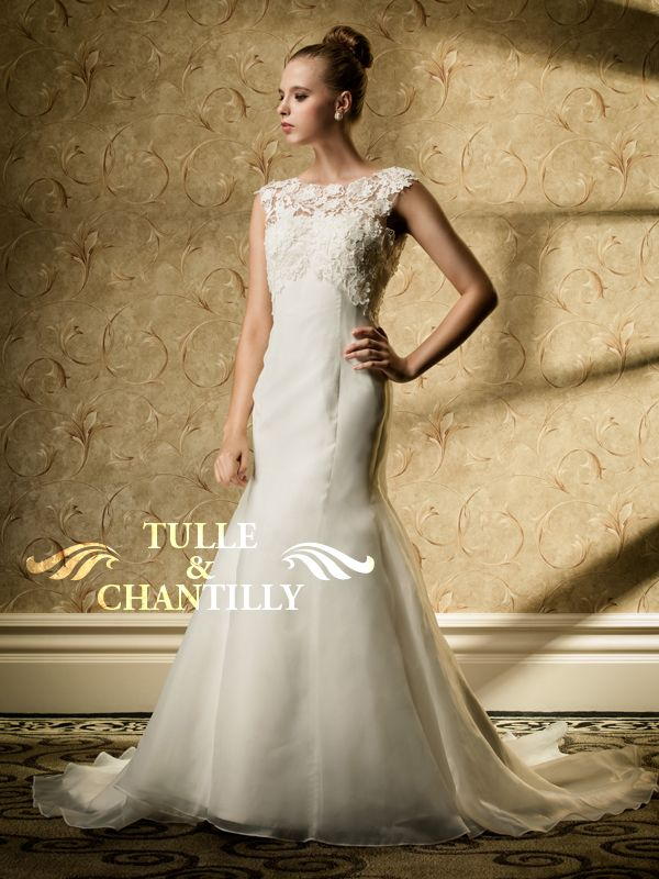 Grace Refined Lace Top Overlayed Mermaid Bridal Wedding