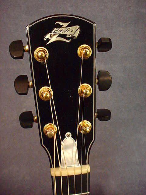 J.R. Zeidler Concert Acoustic Guitar Headstock