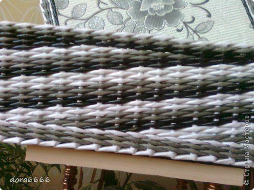 Поделка изделие Плетение Борьба с углами   Трубочки бумажные фото 21