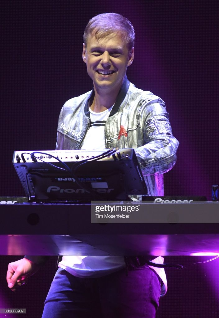 Armin Van Buuren performs during his Armin Only: Embrace Tour at ORACLE Arena on February 3, 2017 in Oakland, California.