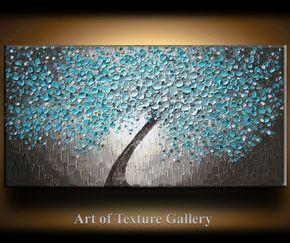 __________________________________________________________  Pintura al óleo abstracta textura original por Je Hlobik  Título: Flores de mar ampliados  TAMAÑO: 48 pulgadas, 24 pulgadas de alto, tela profunda de 1 pulgada  MEDIO: Oleos y acrilicos mínimo  LONA: 1 pulgada profunda galería envuelto lona. Los lados son estaño oscuro pintado y la pintura está listo para colgar.  COLORES: Marfil, beige, beige medio, Aquas, cercetas, marrones, negros y blancos perlados mínimo y Aquas metálicos…