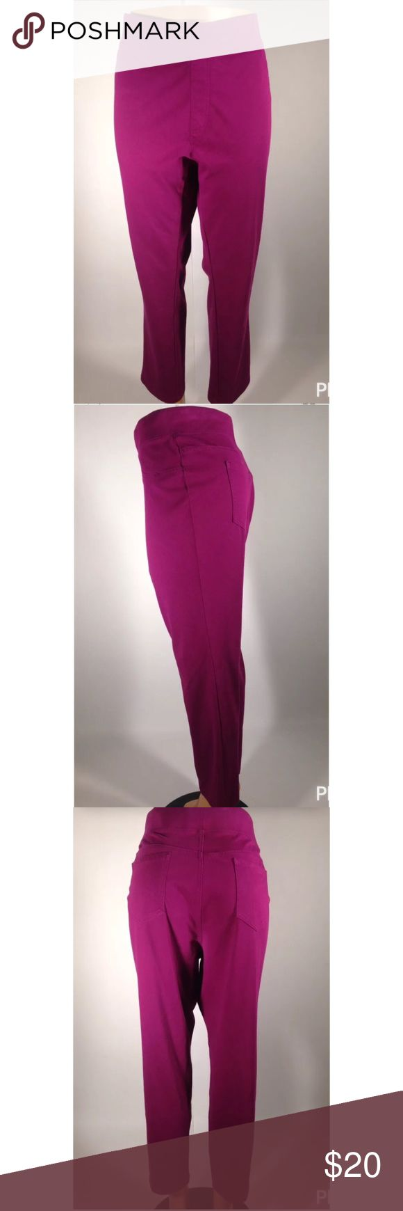 "Faded Glory Women Jegging Capri Size 3X Pink Faded Glory Women Jegging Capri Size 3X (22W-24W) Magenta Casual  51% Polyester 42% Cotton 7% Spandex  Waist 21.5""  Rise 12.5""  Hips 24""  Inseam 28""  Check out my store for other great finds  I-23 Faded Glory Pants Capris"