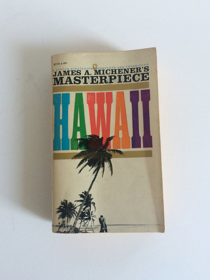 HAWAII by James A. Michener | Mass Market edition from Bantum |  Copyright 1959, '61 edition by BrocanteBedStuyHOMME on Etsy