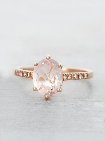 Pink Morganite Marietta Ring This is my dream ring---especially in white gold!