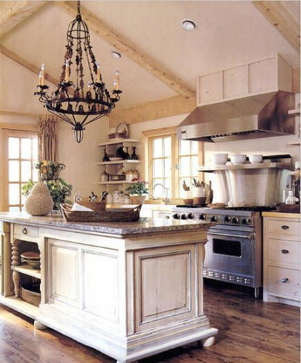Rustic White Country Kitchen 186 best barn wood and chandeliers images on pinterest | farm