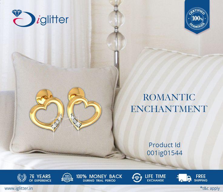Romantic Enchantment ♥♥ Shop Now : http://bit.ly/1FRBObd  #iGlitterindia #Diamonds #Earrings #Jewellery