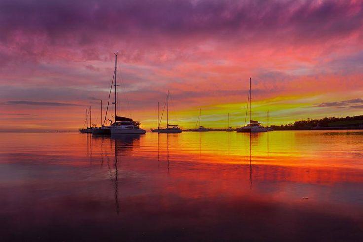 Australia, Tin Can Bay sunrise, photo by Ken Ferguson.