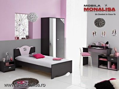 Dormitor Tineret Tatoo   Mobila Mobilier Dormitoare Tineret Rate