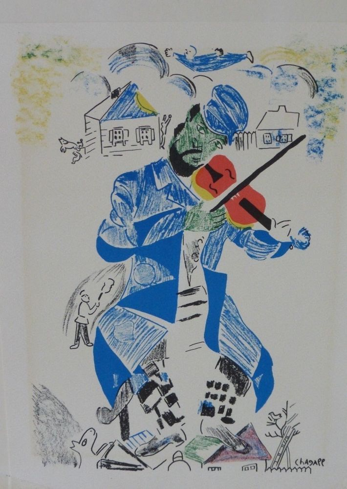 Marc Chagall Fiddler On The Roof Print Marc Chagall Chagall Art