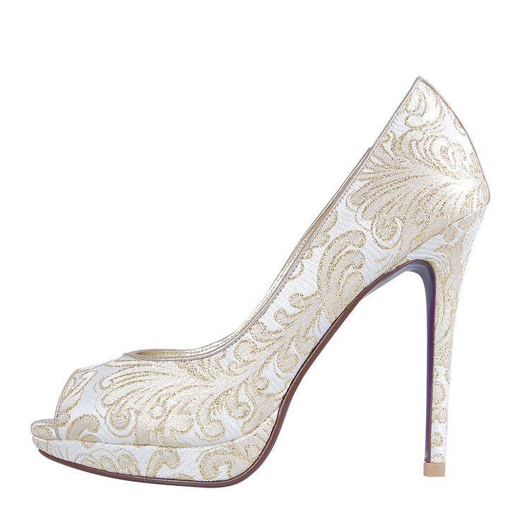 Miss Taylor Ivory | Peeptoe Shoes