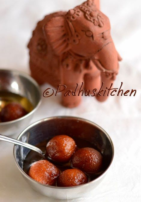 Padhuskitchen: Easy Gulab Jamun Recipe-Bread Gulab Jamun-Diwali Sweets Recipes