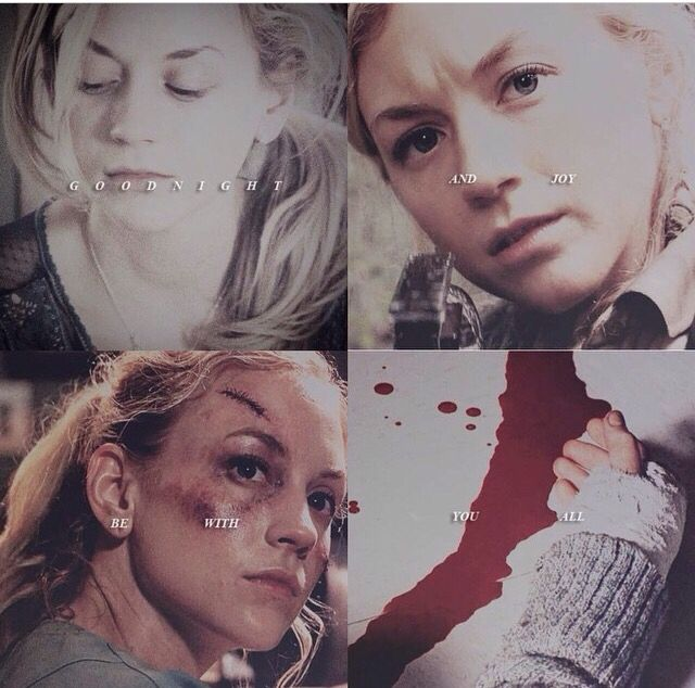 I literally cried when I saw this. Beth dying. But then I started laughing,because Dawn dies.