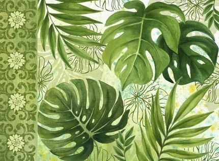 pictures of tropical leaves   Tropical Leaves no Bugs Hz by Elena Vladykina   Ruth Levison Design
