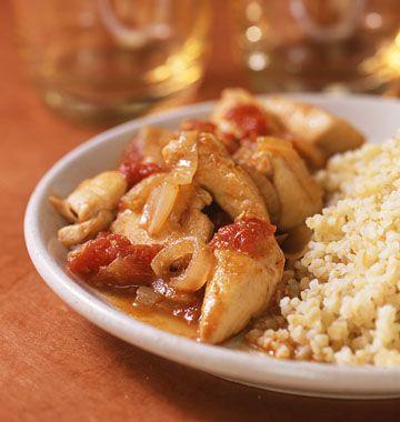 Photo de la recette : Poulet aux tomates et au miel