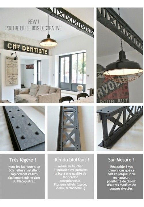 25 best ideas about poutre m tallique on pinterest loft for Poutre bois decorative
