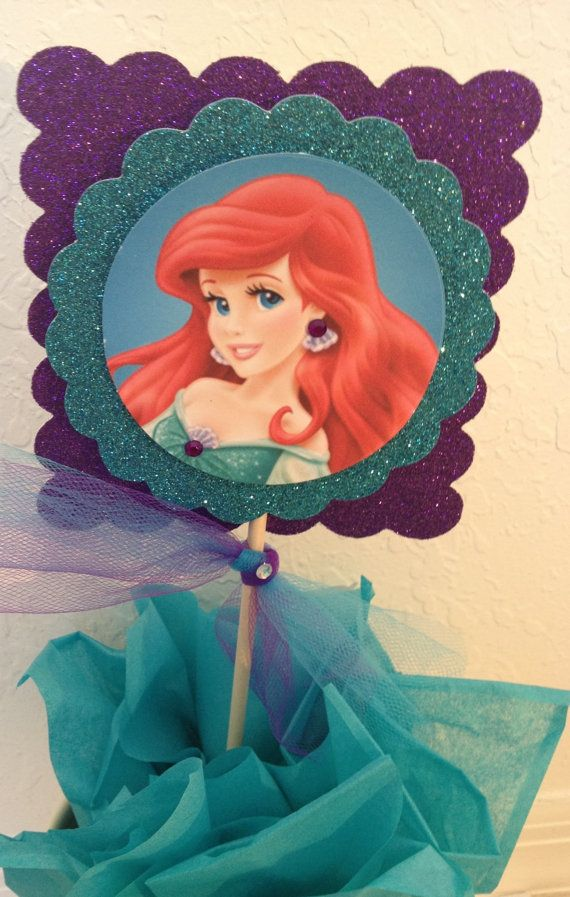 little mermaid centerpiece princess ariel by karlaspartycreations i think i could make. Black Bedroom Furniture Sets. Home Design Ideas
