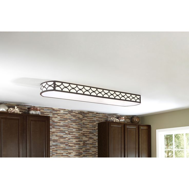 Shop allen + roth Light Bronze Ceiling Fluorescent Light ENERGY STAR Common: 4ft; Actual: 54