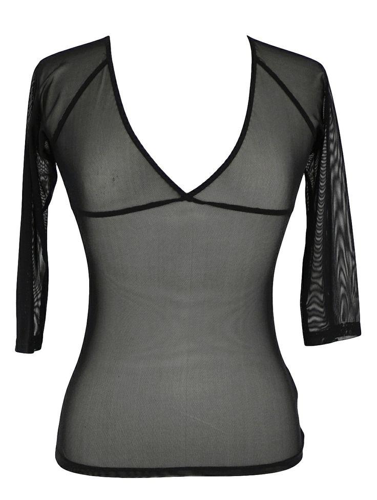 Black Mesh Sheer Basic ~ Best selection of Tunics & matching accessories ~ Flat postage worldwide ~ Petite to Plus sizes ~ www.ilovetunics.com