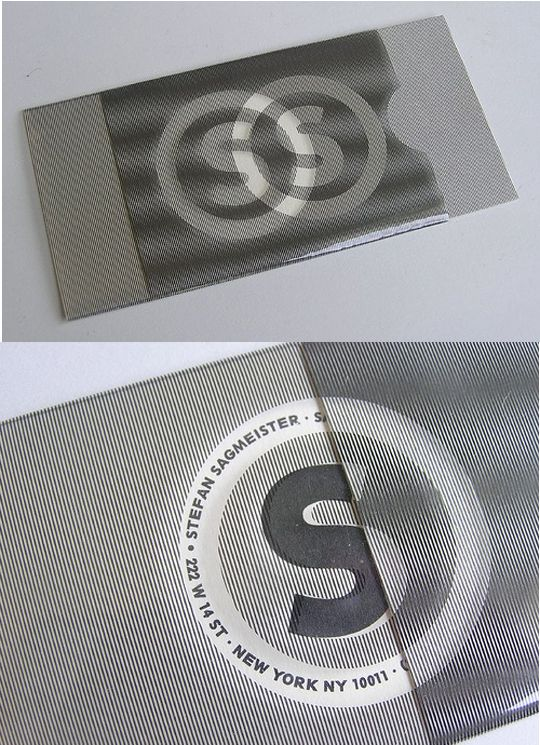 25 best lenticular design images on pinterest art crafts art post image for stephen sagmeisters plastic business card reheart Image collections