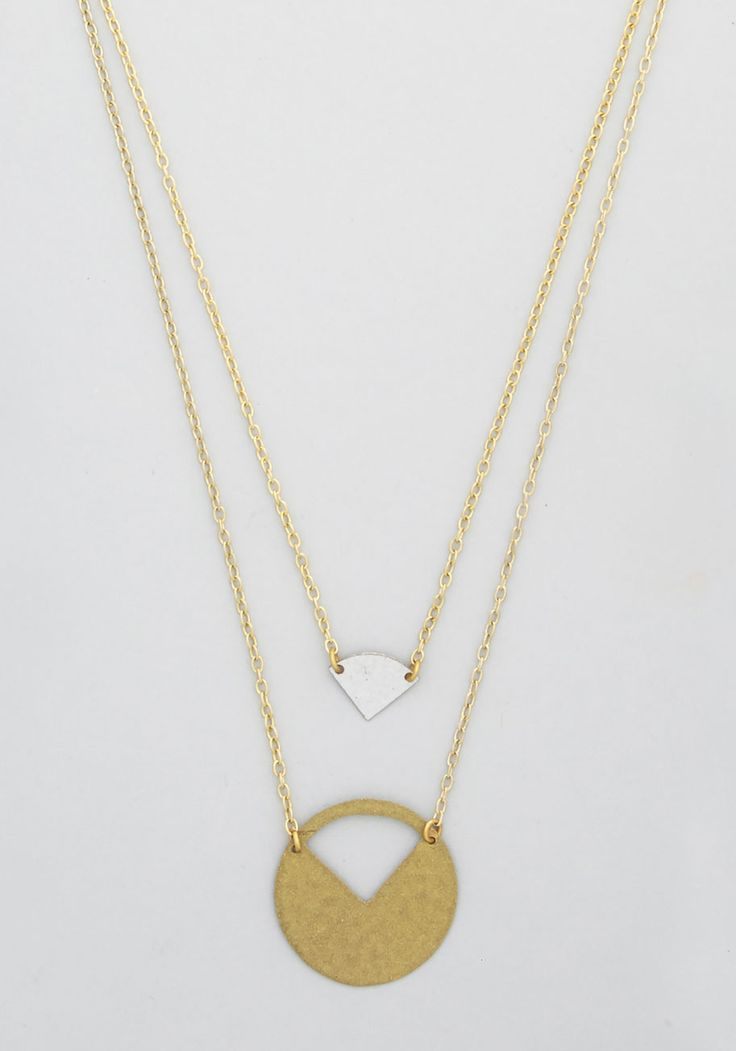 Cut to the Trace Necklace, #ModCloth