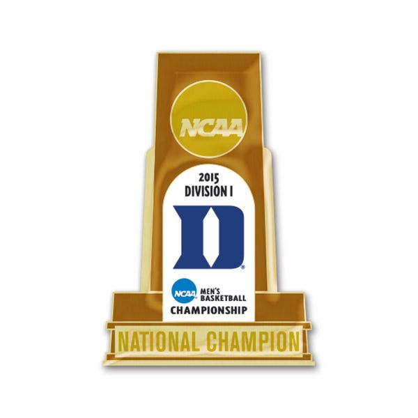 Duke Blue Devils WinCraft 2015 NCAA Men's Basketball National Champions Trophy Pin - $5.99