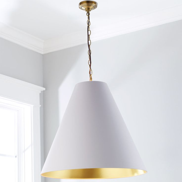 Oversized Cone Paper Shade Pendant In 2019