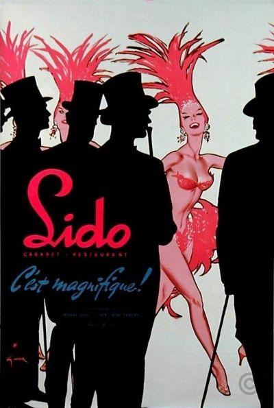 Lido C'est Magnifique poster by Gruau René 1956