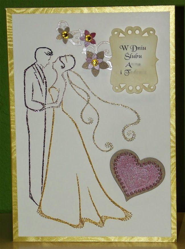 Вышивка на свадьбу открытка