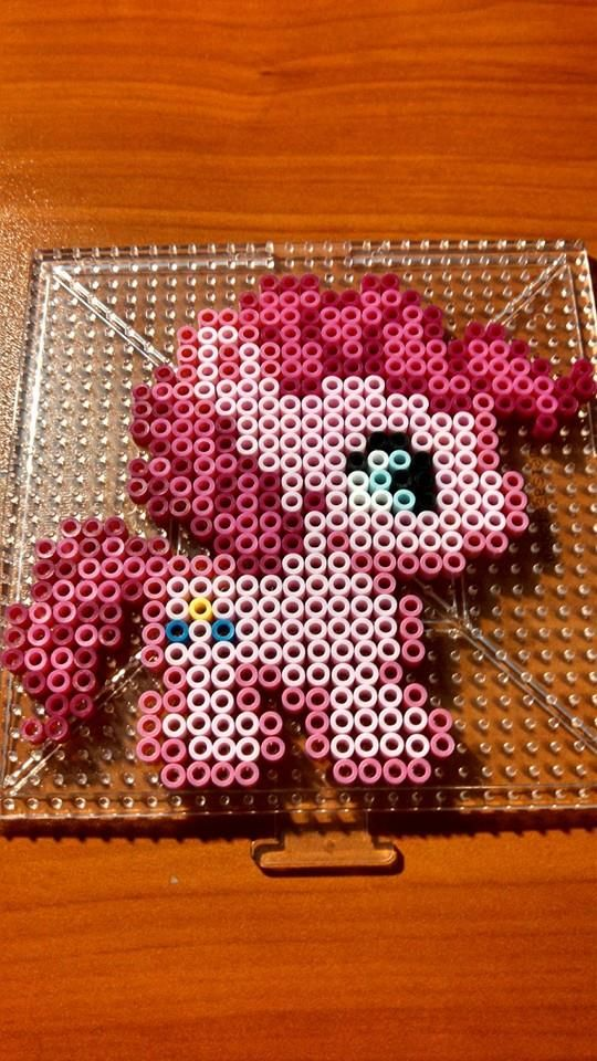 MLP Pinkie Pie Chibi perler beads by swimmingangel on deviantART