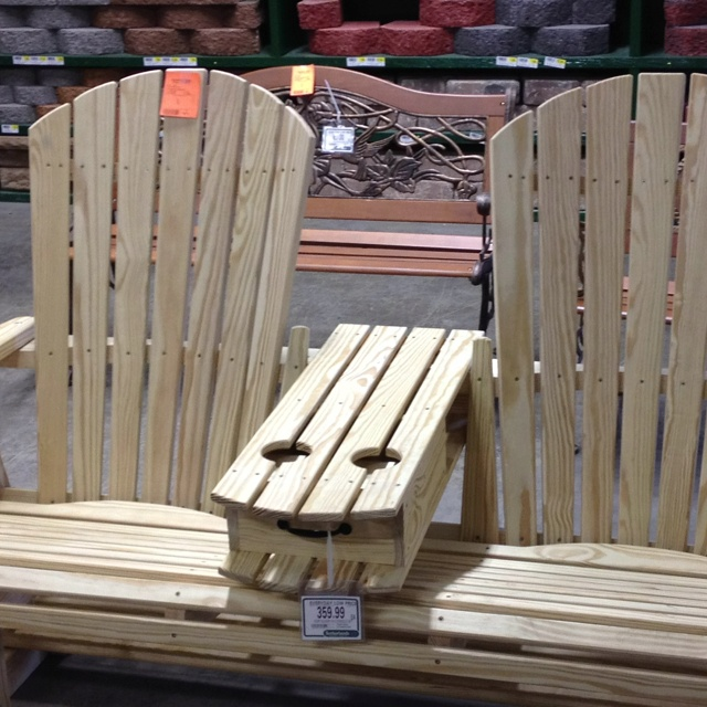 Double Adirondack Chair With Table Plans - WoodWorking Projects & Plans