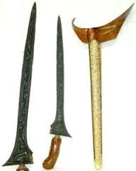 Keris, traditonal weapon of West Sulawesi
