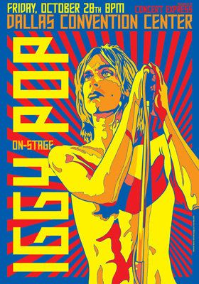 IGGY POP   Dallas  Convention Center  28 October 1977 by tarlotoys, €10.00