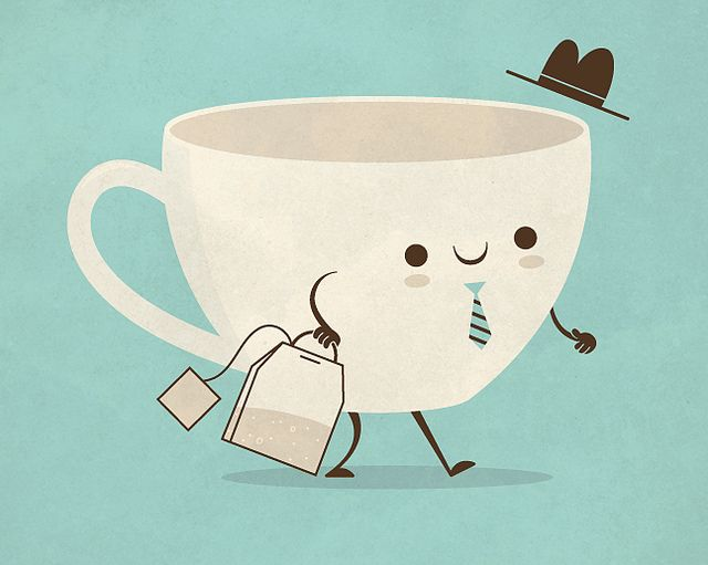 45 Cute Illustration By Skinny Andy: Teas Time, Memorial Cups, Teas Cups, Kitchens Art, Skinny Andy, To Work, Graphics Design, Flats Design, Cute Illustrations