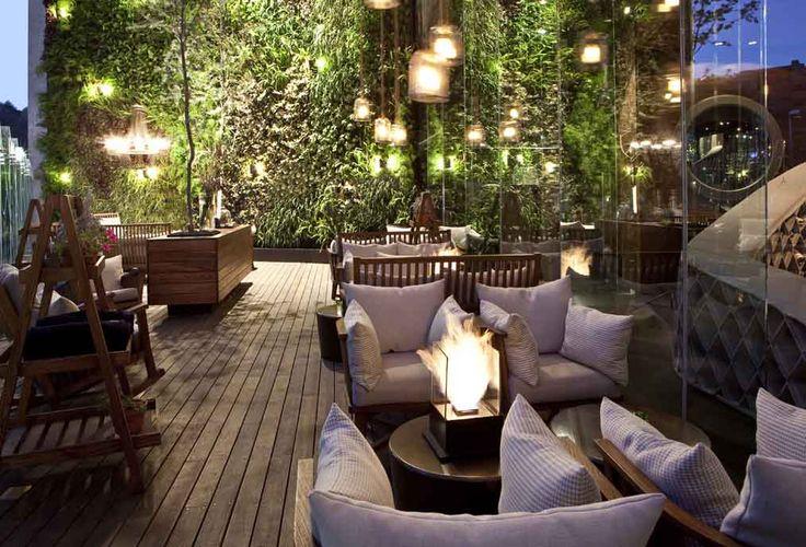 muro verde en un terrazza