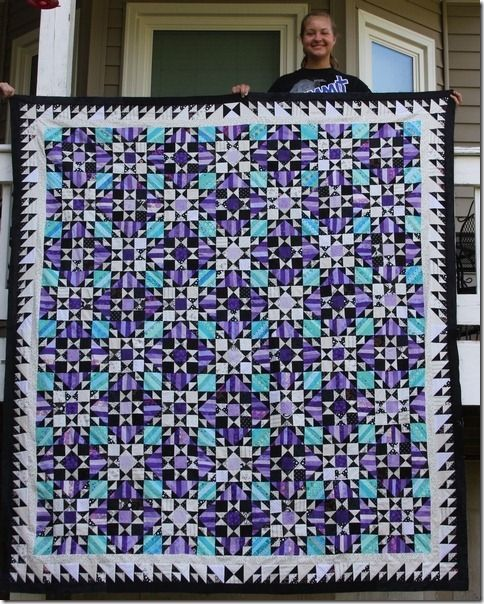 Jessica took a Purple and a Grand Champion ribbon for her Orca Bay Quilt in the Johnson County Fair.  She is 15 years old!  Way to go, Jessica!