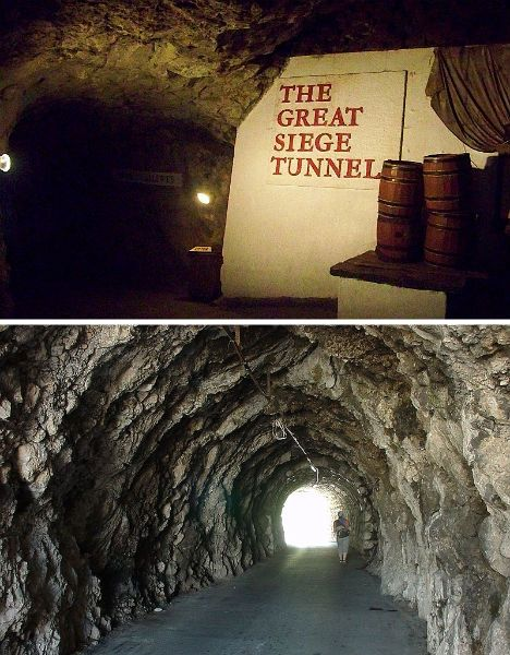 World War II Tunnels in the Rock of Gibraltar