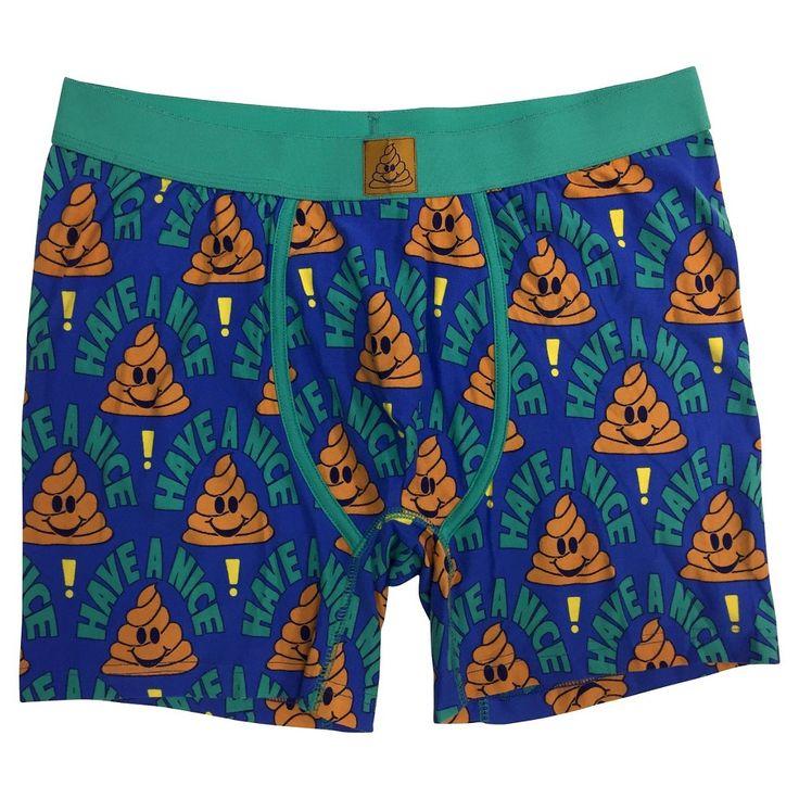 Men's Emoji Boxer Briefs Nation Blue XL - Underwear