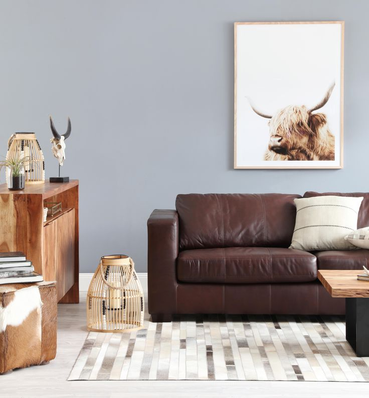 Gordon sofa with Live Edge coffee table and buffet