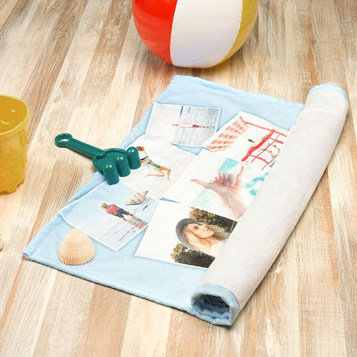 Une serviette de plage personnalisée avec vos photos sur Idée Cadeau Photo