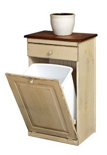 25 best ideas about dog food bin on pinterest rustic kitchen trash cans wooden laundry - Small pull out trash can ...