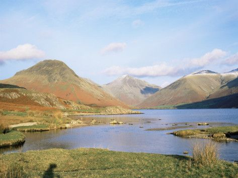 Wastwater with Wasdale Head and Great Gable, Lake District National Park, Cumbria, England Photographic Print by Roy Rainford - AllPosters.co.uk