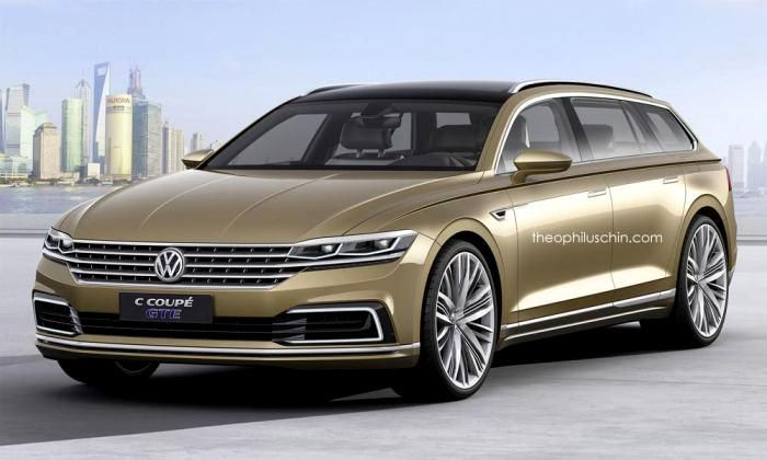 #Volkswagen C #Coupe #GTE #Concept rendered as a wagon
